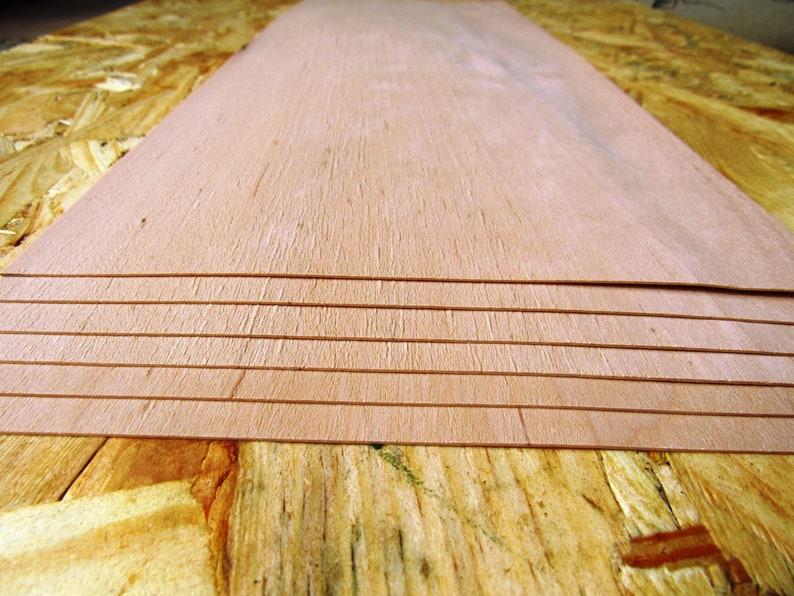 ~47 x 20,4 cm 0.6mm ~142  marquetry supplies veneer set ~18.5 x 8 Alder wood veneer 5 veneer sheets