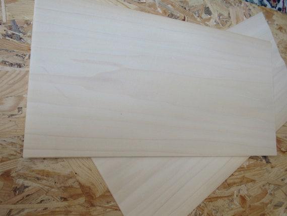 """4 veneer sheets 0.6 mm Poplar wood veneer ~18.1 x 8.66/"""" ~1//42 46 x 22 cm"""