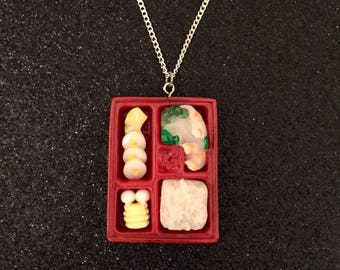 Yummy Sushi Box Pendant Necklace, Quirky Jewelry, Kitsch Jewellery