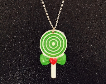 Sweet Lollipop Pendant Necklace, Kitsch Jewelry, Quirky Jewellery