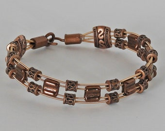 Guitar String Bracelet - Aztec Copper