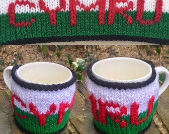 Hand-made Mug Cosy/Mug Warmer - Six Nations Editions - Wales