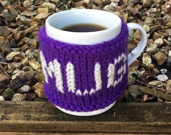 """Hand-made Mug Cosy/Mug Warmer """"You Mug"""""""