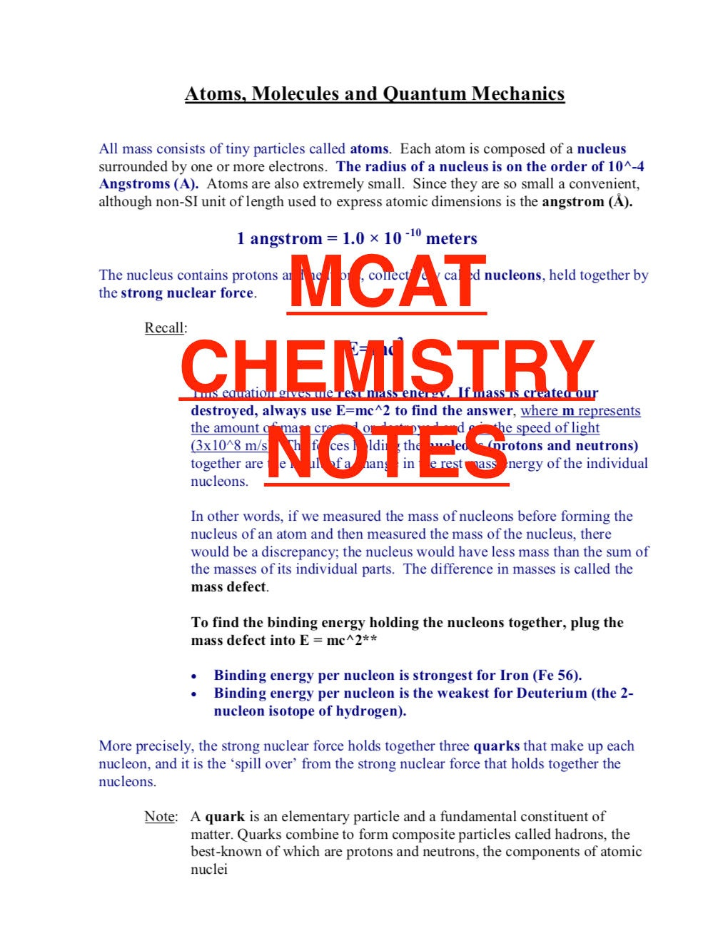 MCAT Chemistry Notes for a 515+