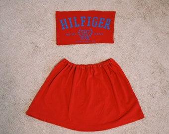 0573243e4 Vintage Tommy Hilfiger two piece skirt set