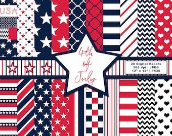 Fireworks RedWhiteBluePAPER Card Tag Making 9pcs 6X6 4th of July Scrapbooking