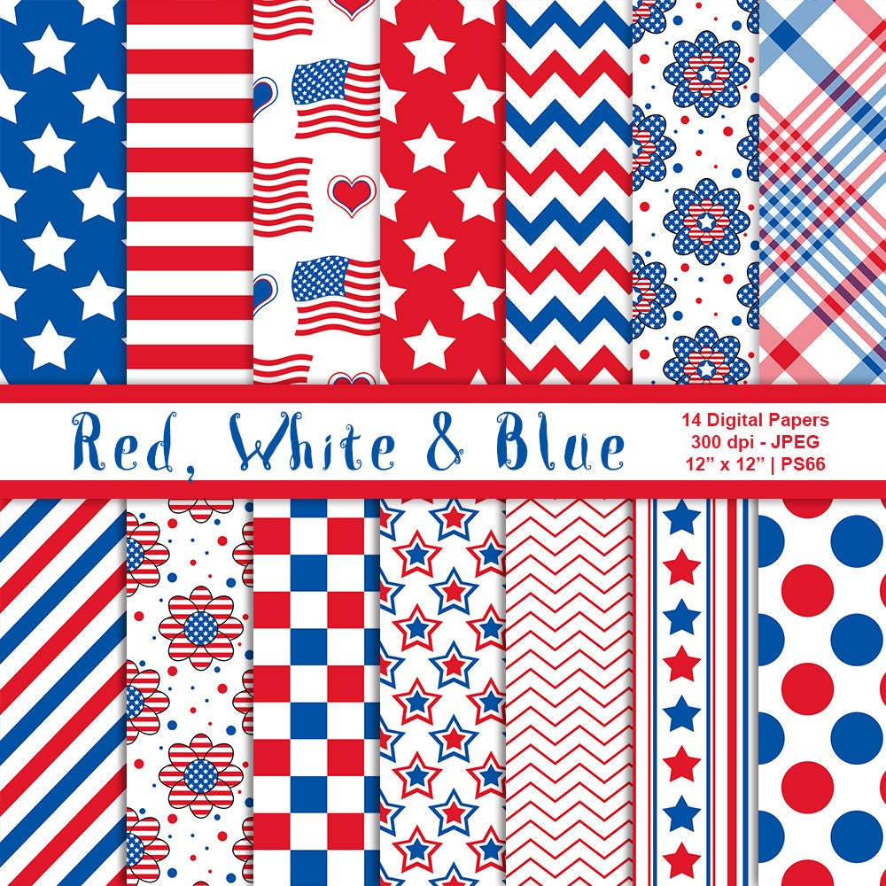 July 4th Printables Independence Day Digital Backgrounds Red White /& Blue Digital Plaid Paper Commercial Use Patriotic Papers Item PS99