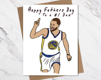 75bcedfe4 Steph Curry Father's Day Card, Basketball Father's Day Card