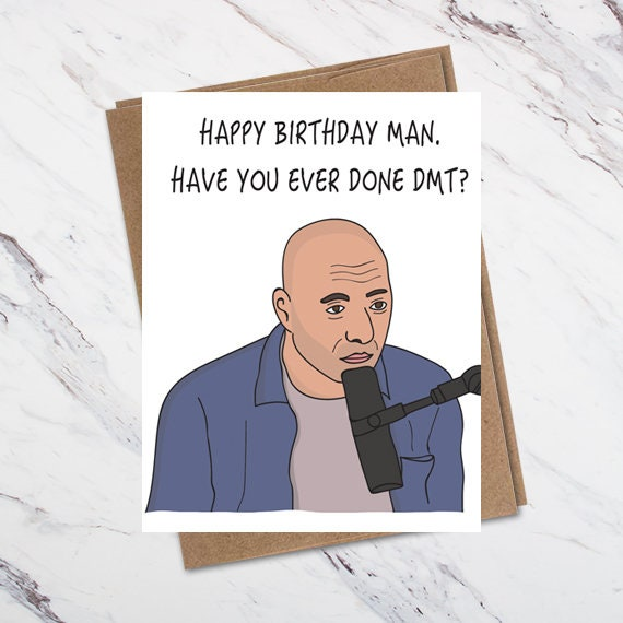 Joe Rogan Birthday Card Joe Rogan Greeting Card Jre Card Etsy