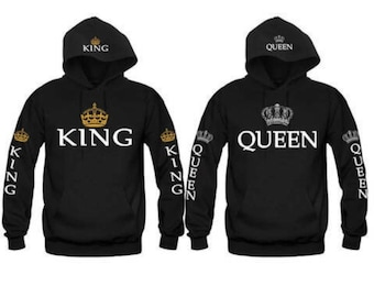 1bf1f640d2d King Queen Crown Hoodies