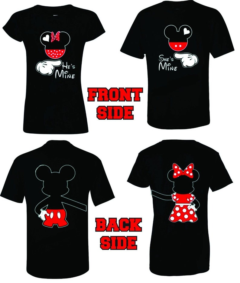 43f7381a3 Mickey and Minnie Disney he's Mine she's Mine couple | Etsy