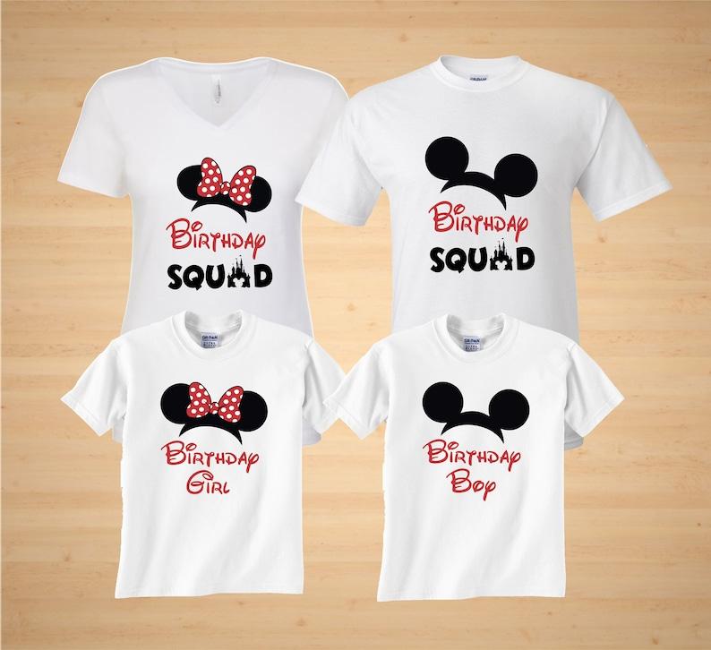 37e8ac9e3c Birthday Squad Minnie Mickey ears Disney Family Vacation   Etsy