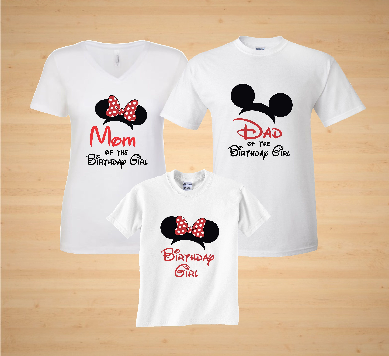 d18ddadacdd8 Minnie Birthday Girl matching Family t shirts Disney family | Etsy