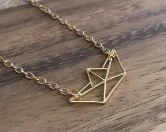 Paper Boat Gold Plated Necklace