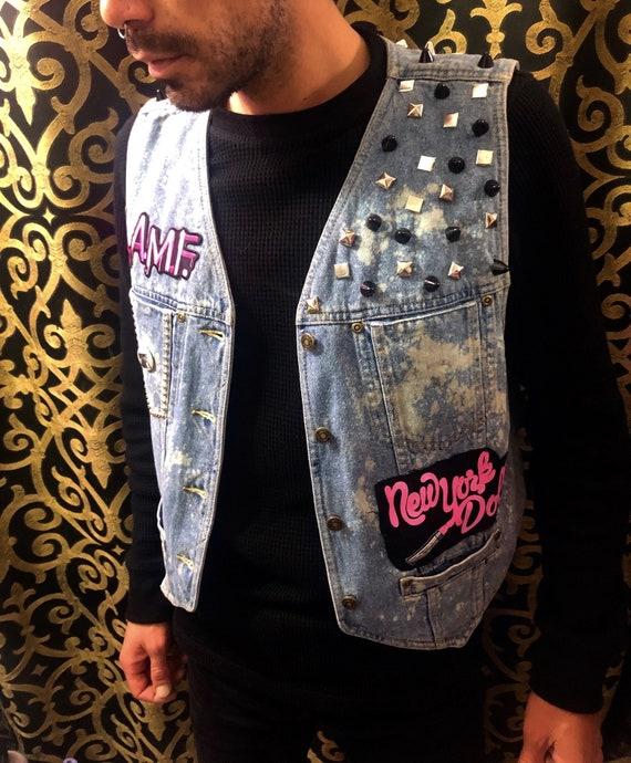 Punk Jacket Grunge Style Punk Pins Punk Buttons Custom Vest Punk Girls Oi Punk Style Shredded Dreams Biker Battle Jacket