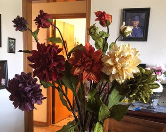 Silk flower stems etsy more colors various colors silk dahlia stems mightylinksfo