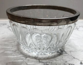 Reims Glass France; Vintage French Glassware Nut & Candy bowl