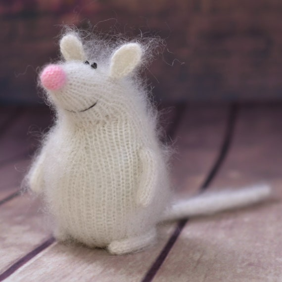 Mouse Pattern Knit Toy Mouse Amigurumi Tutorial Knitted Etsy