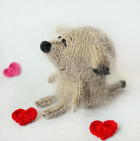 Knit Puppy Pattern Amigurumi Dog Tutorial Knitted Toy Pattern Dog
