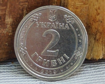 one hryvnia non-standard coin coin of Ukraine coin coins Rare coin of Ukraine collection of old coins old coins Yaroslav the Wise