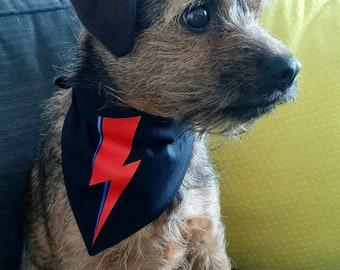 David Bowie inspired Dog Bandana, Neckerchief, Collar.