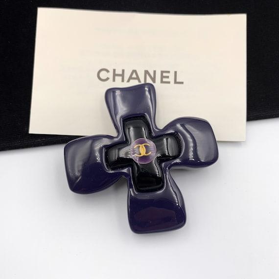 CHANEL Vintage CC Camellia Brooch