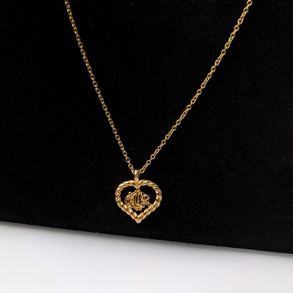 Christian Dior Vintage DIOR with heart logo pendan