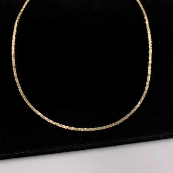 Christian Dior Vintage snake chain choker necklace