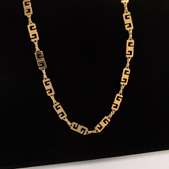 GIVENCHY Vintage GG link logo Necklace