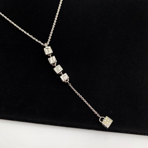Christian Dior Cube DIOR Charm Necklace