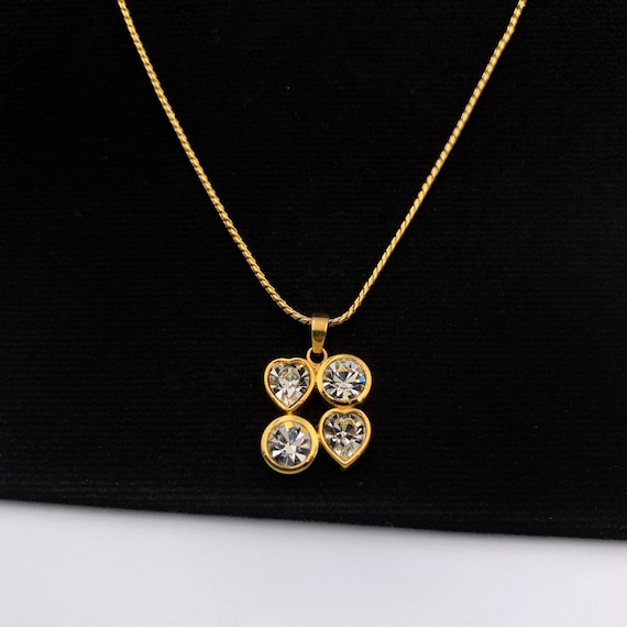 YSL Vintage Gold Plated Pendant Necklace