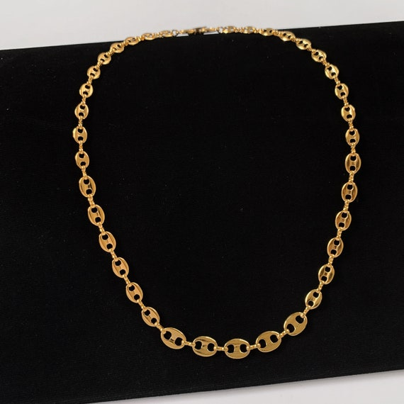 GIVENCHY Vintage Chain link logo Choker Necklace