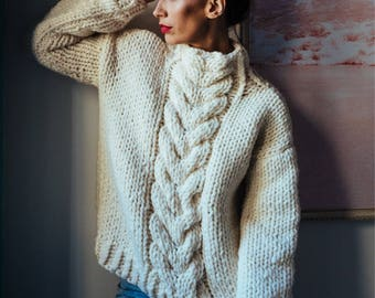 Hand Knit Sweater Etsy