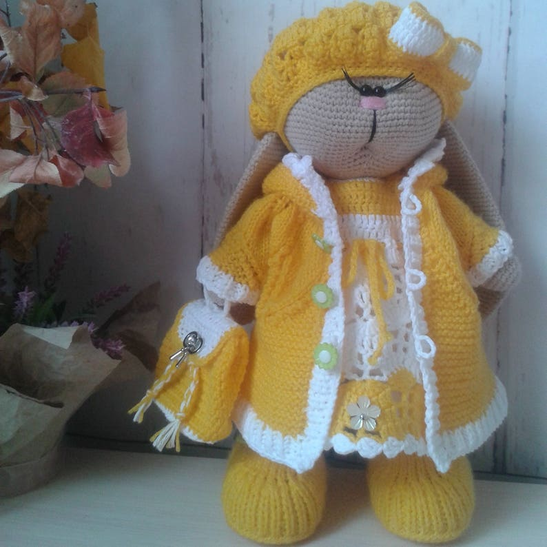 заяц вязаный тильда Knitted Hare Knitted Toy Hare Tilde Etsy