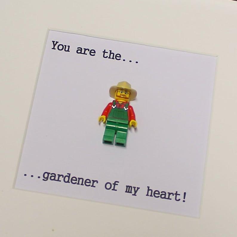 Lego Gardener Of My Heart Minifigure Picture Framepersonalizablegift Ideagarden Lovervalentines Day