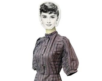 Vintage Finnish, seventie/eighties dress, cotton, size 36/38 (S/M)