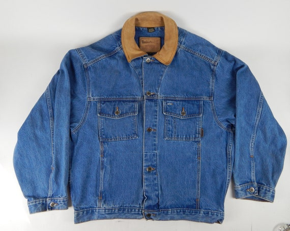 "1990s Vintage ""Timberland"" Denim Men's Trucker Jac"