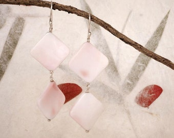 Shell-Silver and shell earrings-handmade in Tuscany