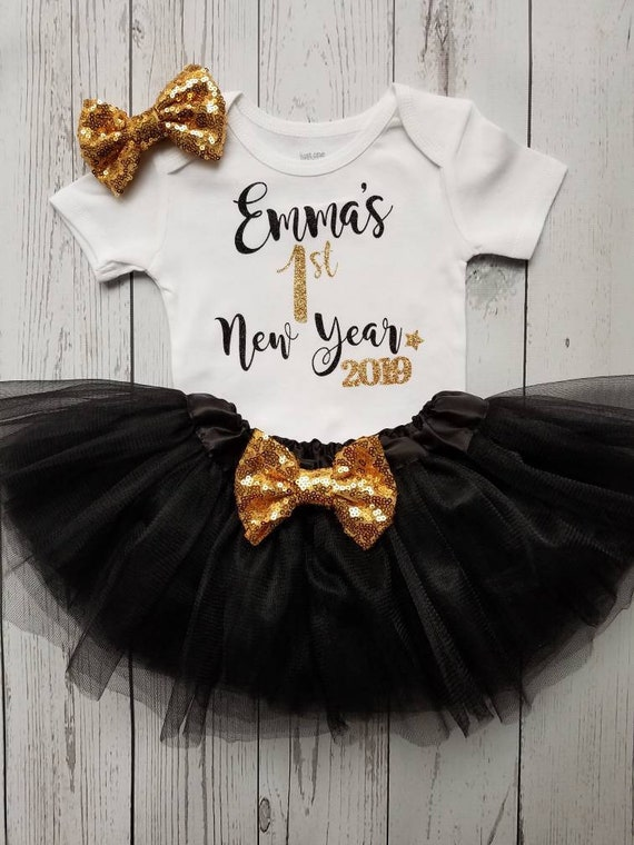 Baby Personalised 1st New Year Tutu Romper Multi Firework 1st New Years Newborn Gift Colmartropicale Com My