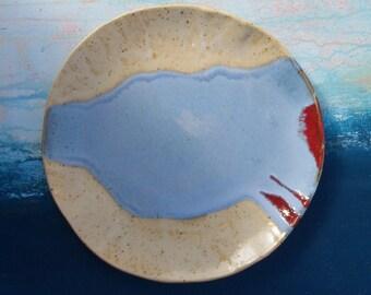 Ceramic handmade dinner plate stoneware breakfast plates for cake stand pottery ceramics dinnerware serveware tableware platter perfect gift
