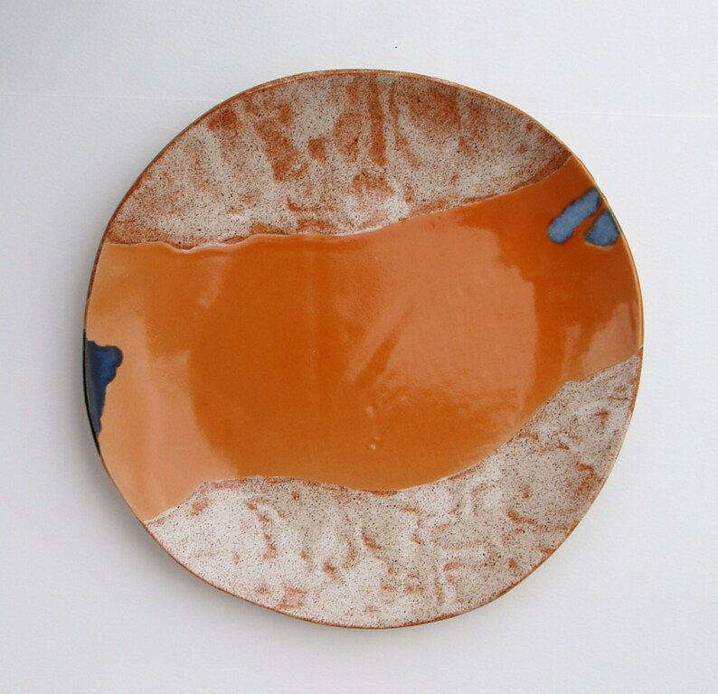 Handmade ceramic dinner plate dinnerware stoneware centerpiece easter gift birthday table decor decoration modern ceramics pottery platter