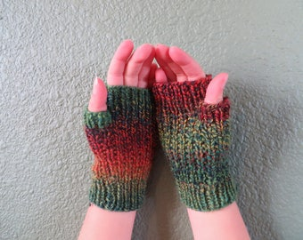 Colorful Fingerless Mitts for Tots