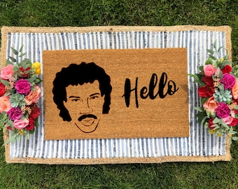 9a51fe7c2 Hello Lionel Richie Welcome Mat/ Hilarious Welcome Mat/ Lionel Richie/ Cute  Welcome Mat