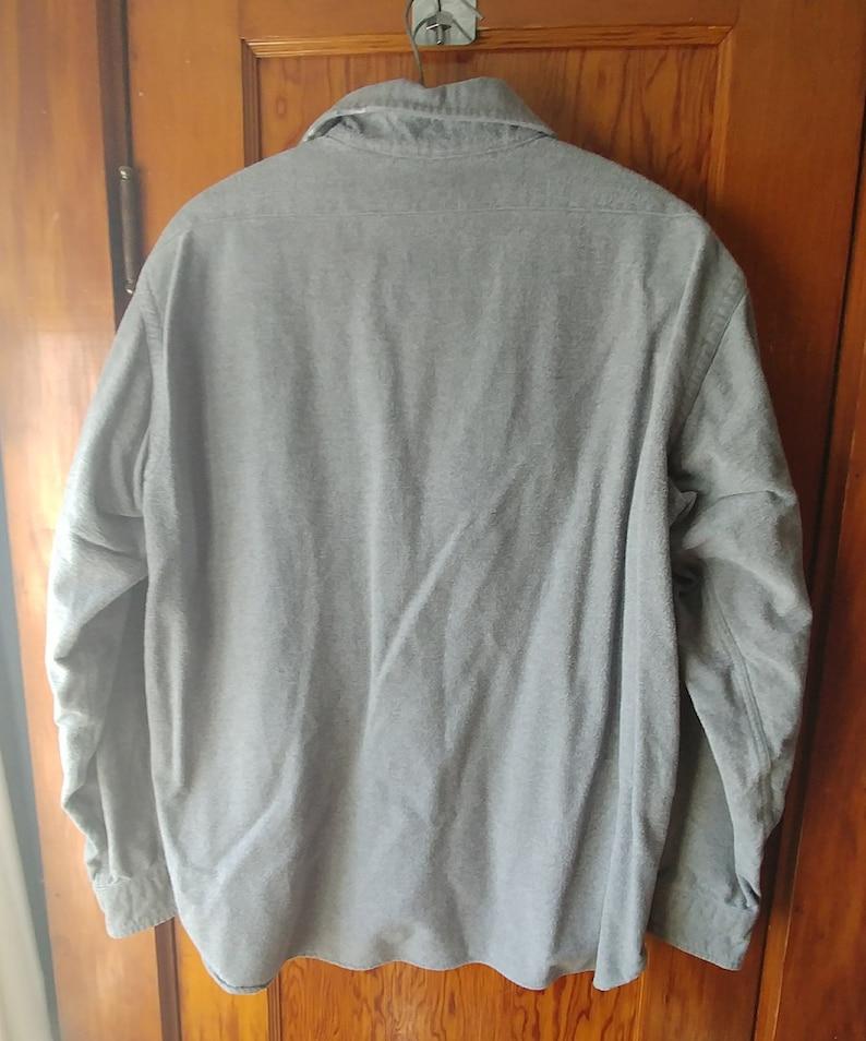 a2cb138a847ab 90s Vintage L.L.Bean Men s Chamois Shirt Large   Slate