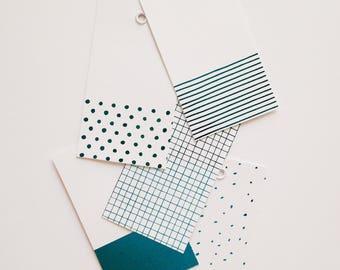 5 Geometric Foiled Gift Tags -