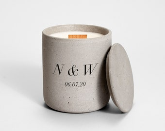 Personalized Initials Candle | Medio | wedding candles | personalized candle | wedding gift | wedding favor | names & date | bridal shower |