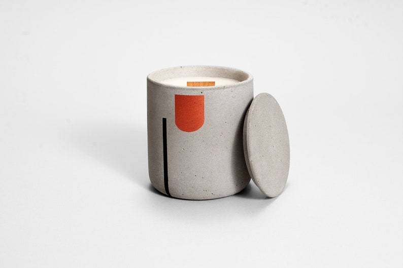 Copper & Black Line soy candle  Medio  organic soy wax image 0