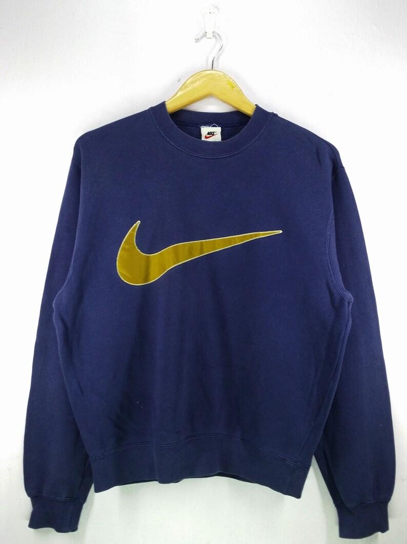 new product a63b1 0770f Vintage 90 s Nike Big Swoosh Big Logo Embroidery   Etsy