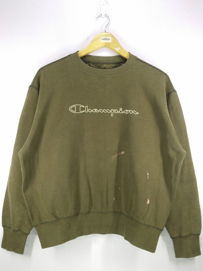 75904997137e Vintage 90 s Champion Spell Out Sweatshirt Jumper Pullover