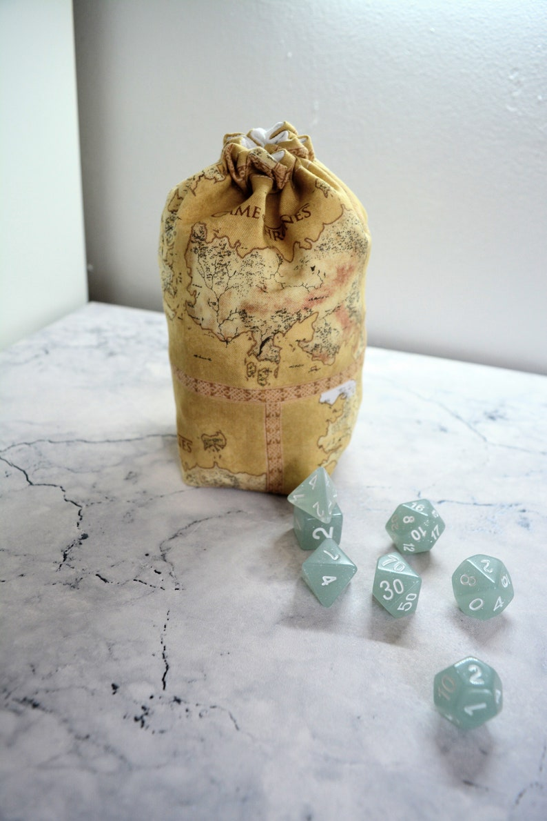 Game of Thrones Map Inspired 3 Size Dice Bag / Bag of Holding Dungeons and  Dragons, Tabletop, RPG, DnD bag, Pathfinder, Tokens, Meeples
